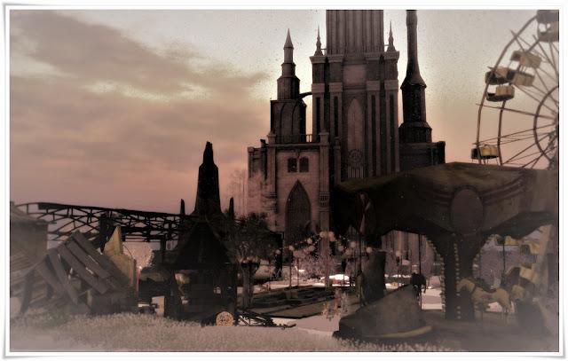 180210 *** le parc ***Winter · Park that collapsed