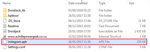 انشاء تطبيق تجسس استخدام droidjack
