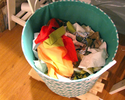 quilt scraps bucket