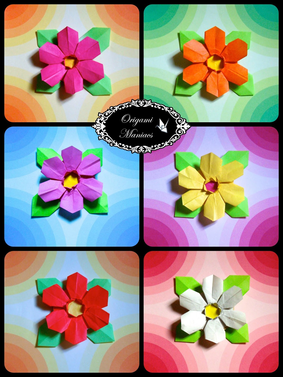 Origami maniacs flor de origami de 6 petalos hello origami maniacsday i want to share with you this beautiful small flower intermediate origami level that is made with a single sheet of paper mightylinksfo
