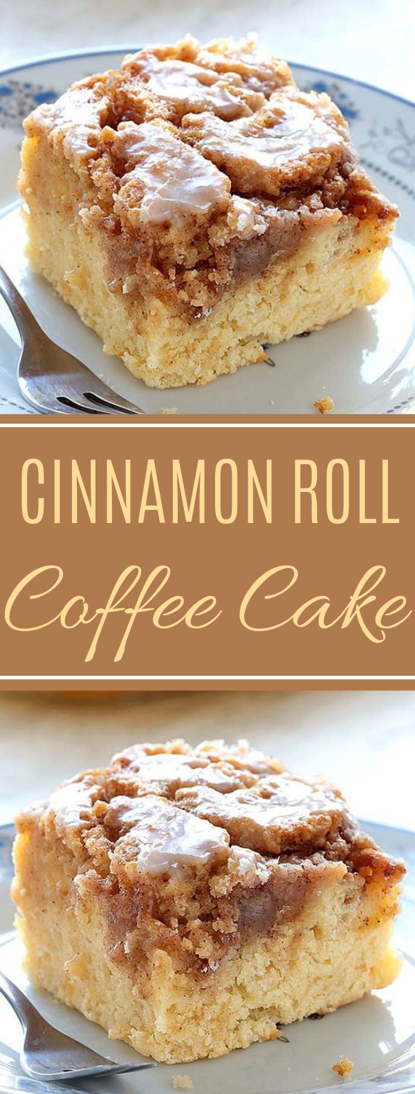Easy Cinnamon Roll Coffee Cake #dessert #easy