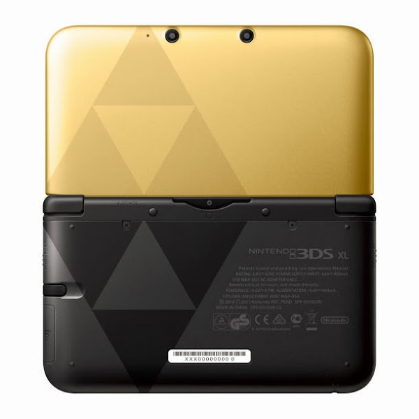Gold 3DS XL back view