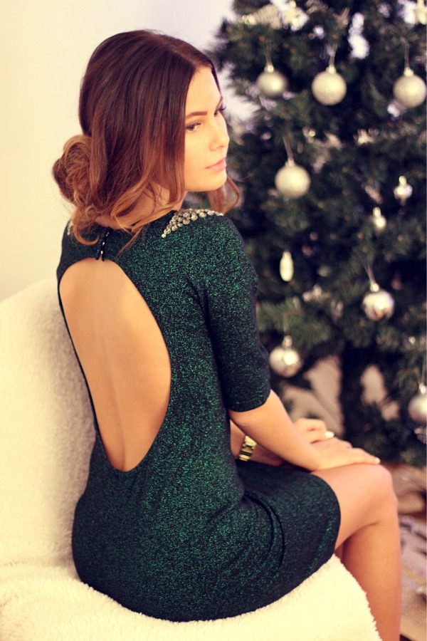 Look verde no Natal