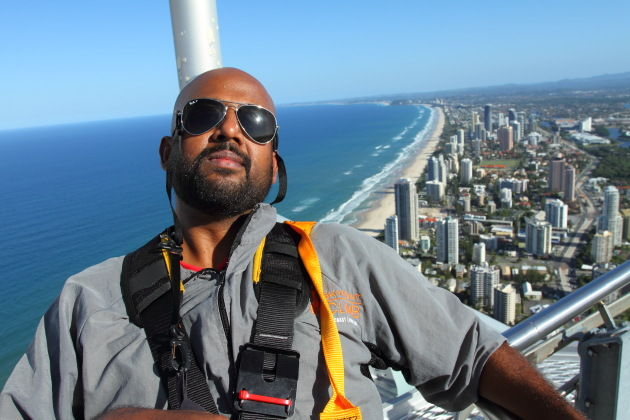 Climbing one of the tallest buildings in the world - Q1, Gold Coast, Australia