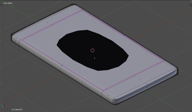 Loop Cut and Slide pada bagian Extrude