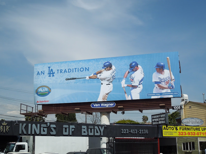 Dodgers LA Tradition billboard