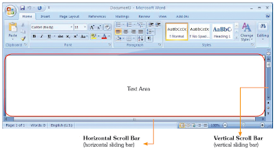 Text area pada MSWord.
