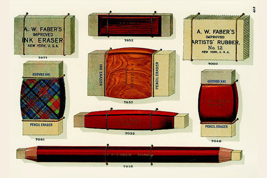 Faber-Castell erasers 1897