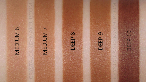 Bâton estompeur teinté Nudies Nudestix Swatches Medium Deep