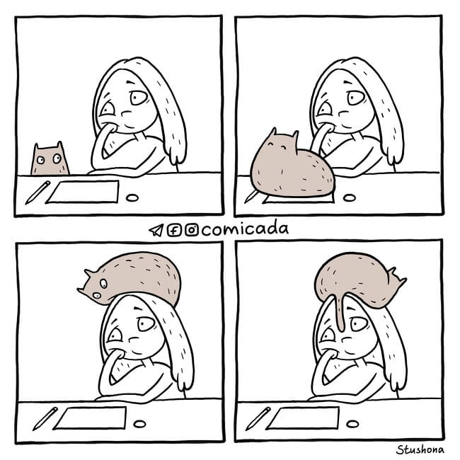 18 Marvelous Comics Many Women Will Relate To - We can always depend on your cat to lift our spirits.