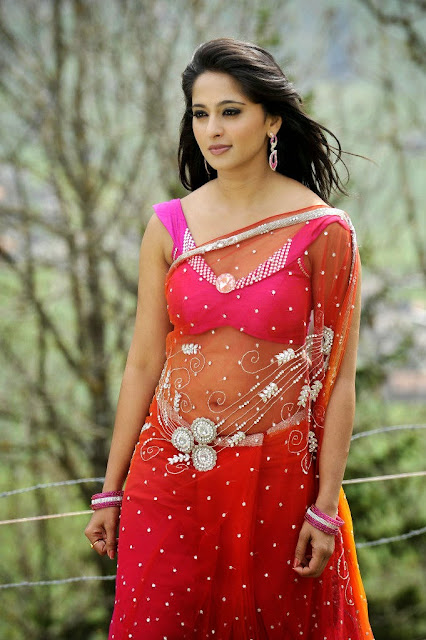 Anushka Shetty in Red Saree ~  Exclusive.jpg.jpg