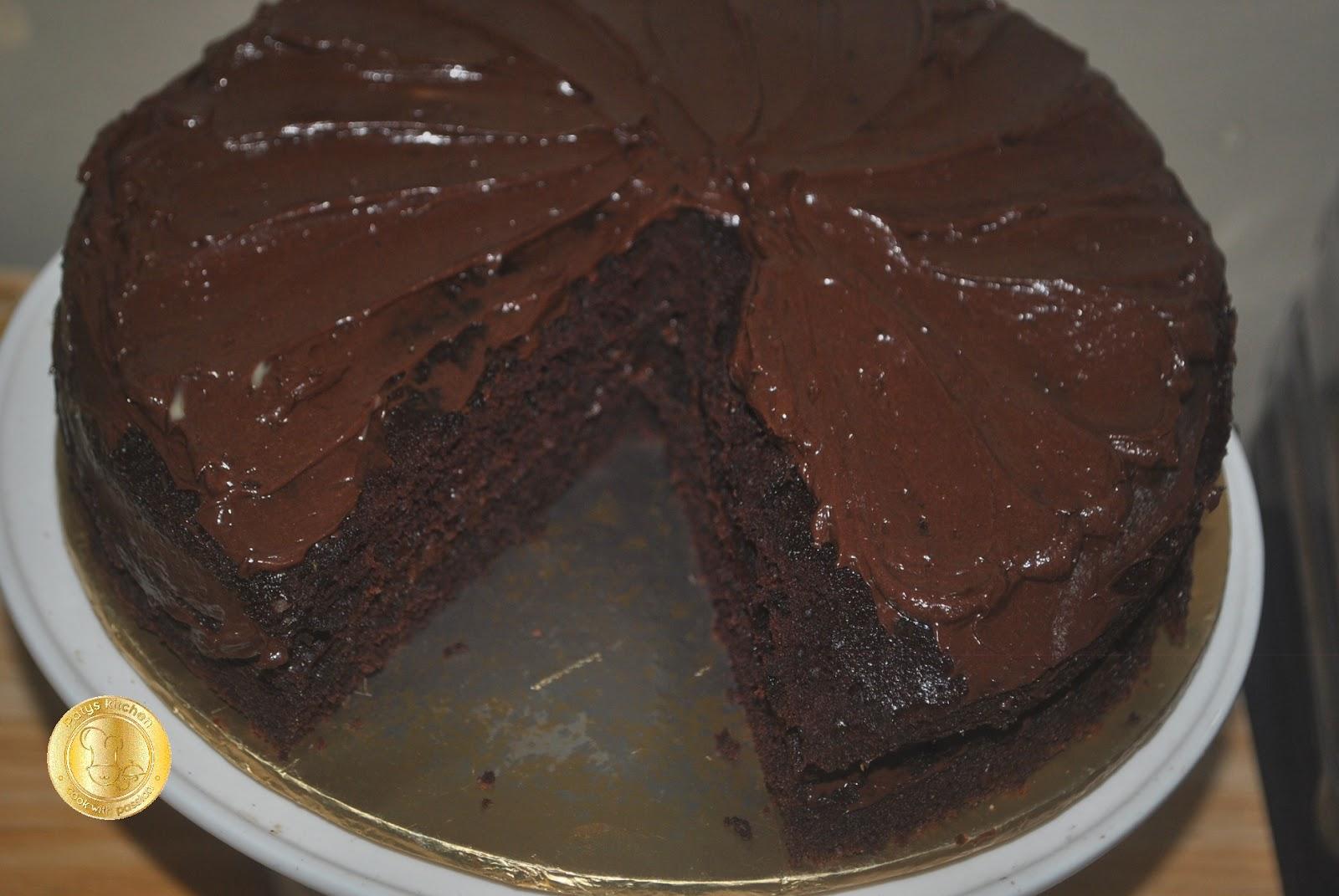 Hot Water Chocolate Cake Bbc