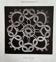 Motif carré en frivolité - Modèle ancien Cartier Bresson