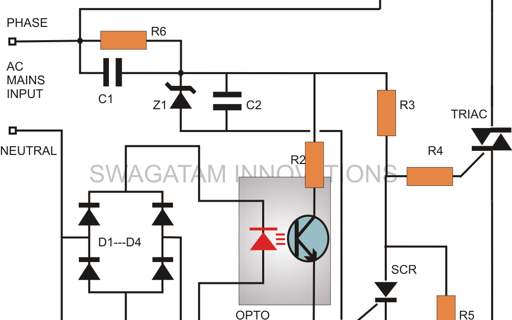 warning this circuit is not isolated from mains ac therefore all its