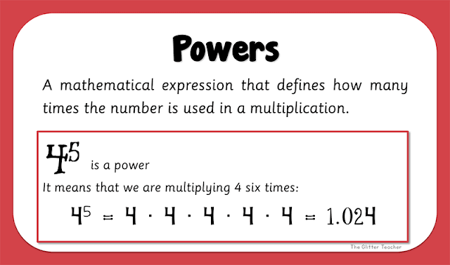 Powers. Maths year 6