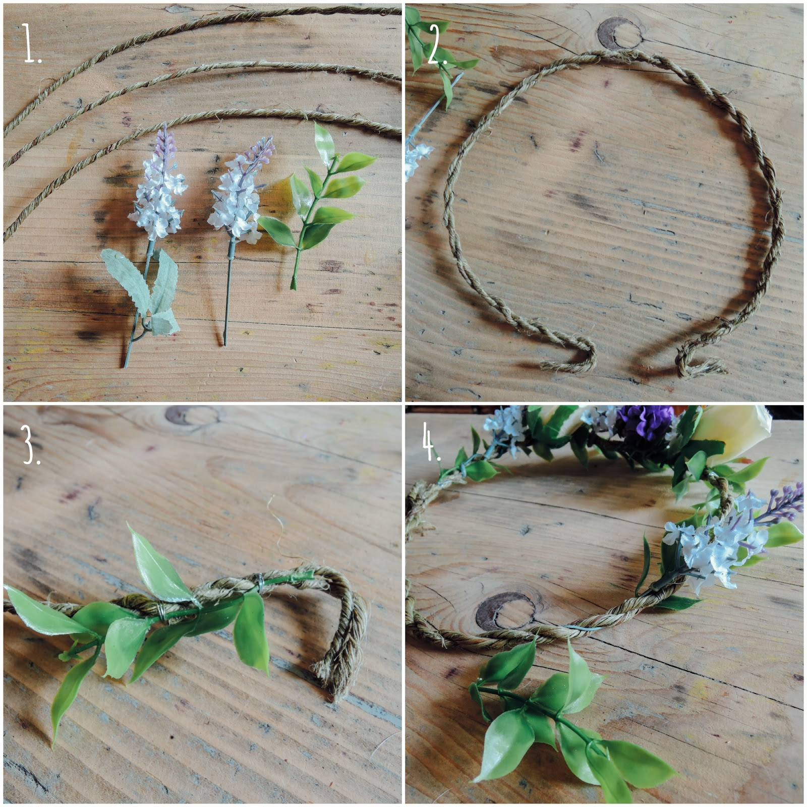 A handmade cottage how to make a flower crown for weddings tip when it comes to design you can either have the flowers going all the way around in one direction or you can do as ive done all going one direction izmirmasajfo