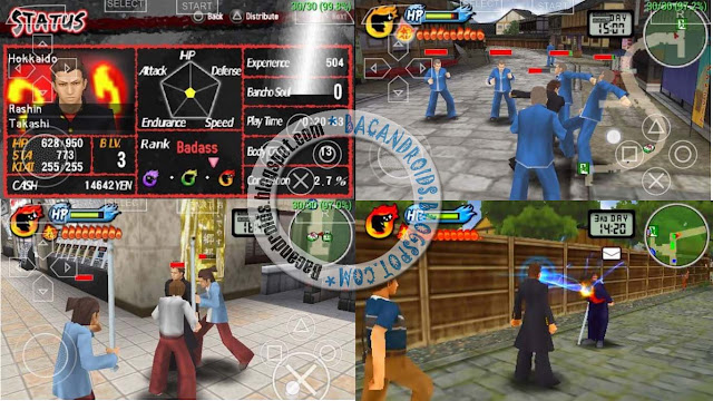 Download Game PSP Crows Zero Kenka Bancho Badass Rumble ISO HighCompress For PSP Android