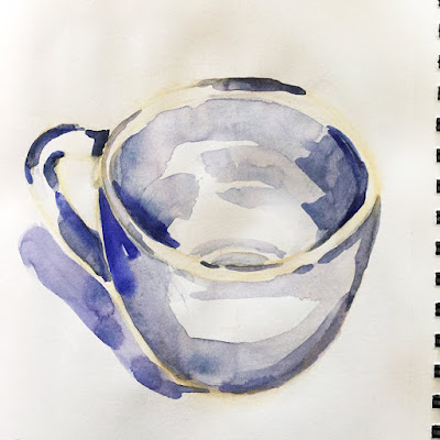 daily art - watercolor wash mug study in Canson XL Mix Media sketchbook