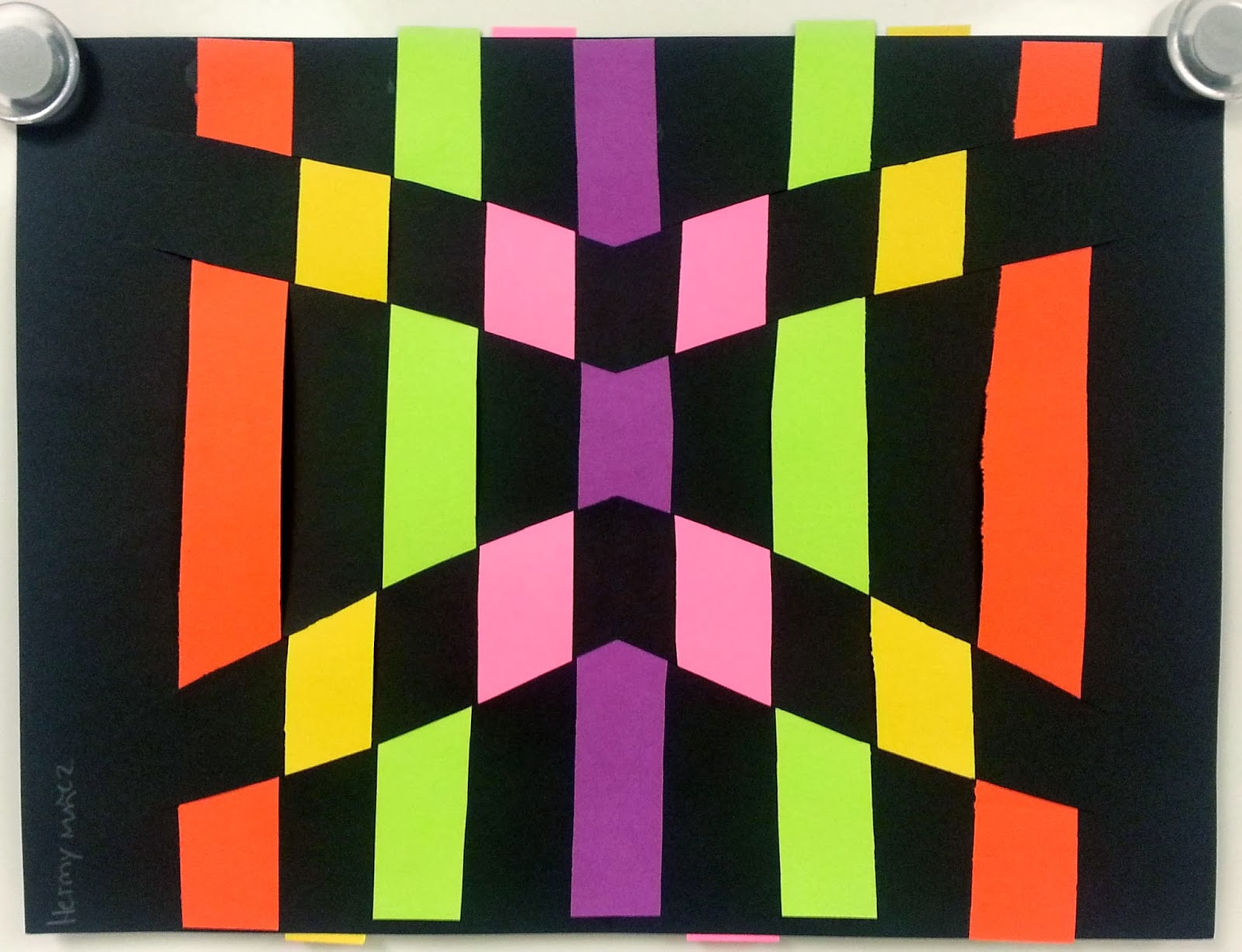 Op Art Paper Weaving 3rd And 5th