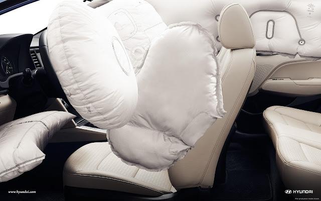 Elantra 2016 được trang bị tới 6 túi khí an toàn