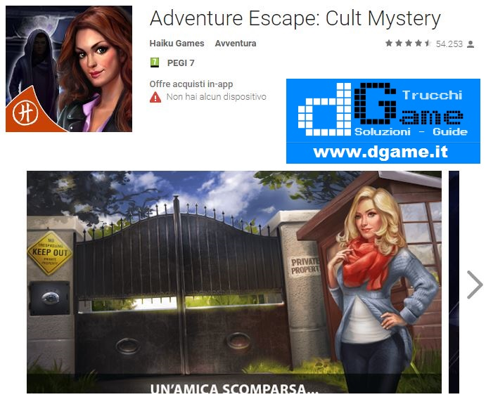 Soluzioni Adventure Escape: Cult Mystery di tutti i livelli | Walkthrough guide