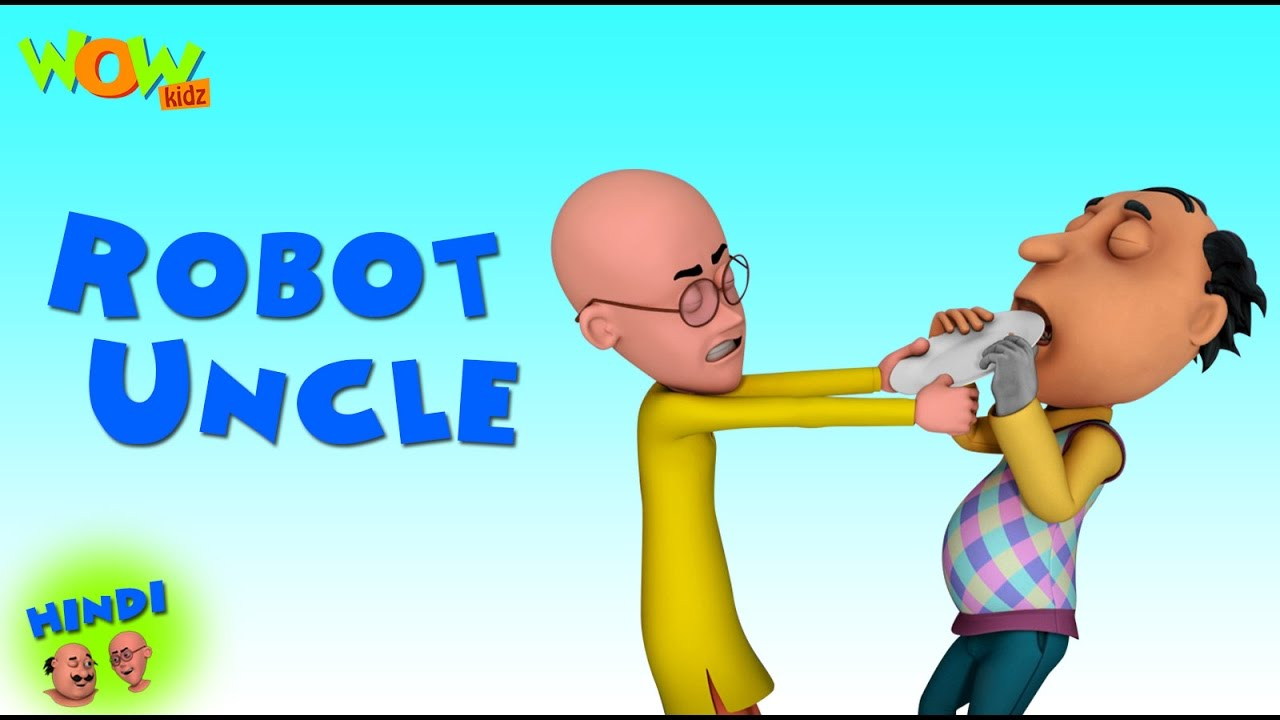 Robot Uncle - Motu Patlu Cartoons in Hindi