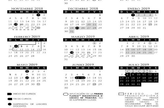 Calendario Escolar 2017 Y 2018
