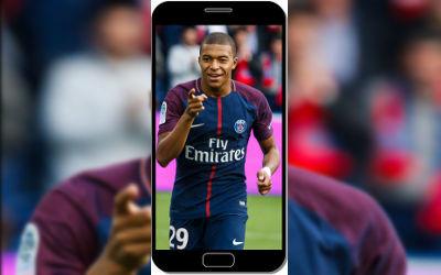Kylian Mbappé Football PSG - Fond d'Écran en QHD pour Mobile