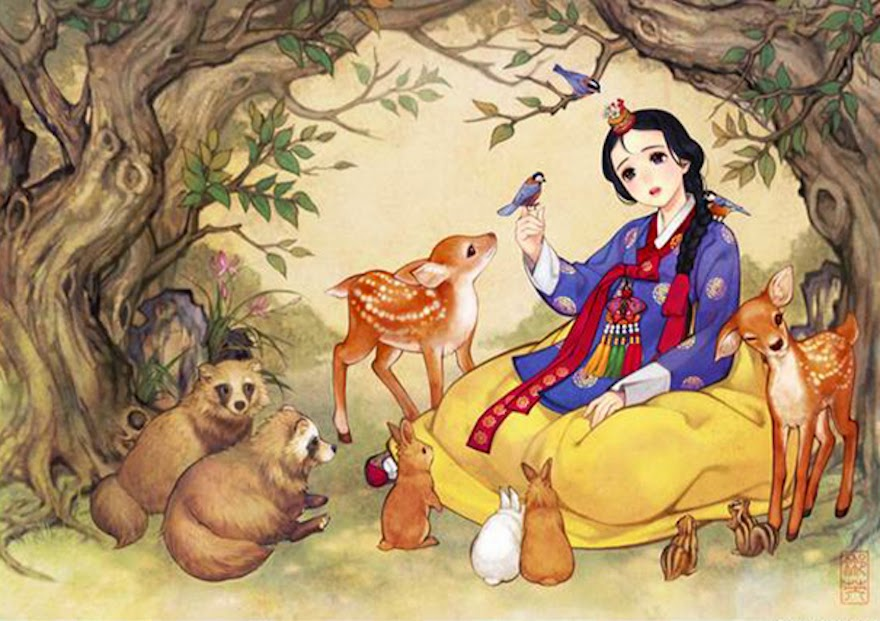 Famous Western Fairytales Get An Eastern Makeover By Korean Artist - Snow White