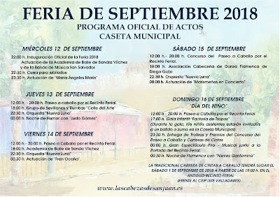 Feria de Las Cabezas de San Juan 2018 - Programación