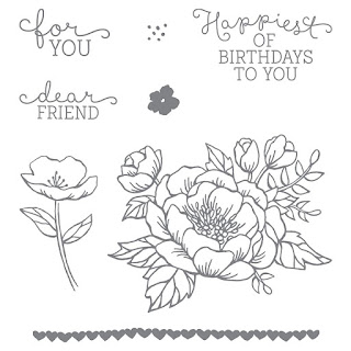 Birthday Blooms Clear Mount Stamp Set
