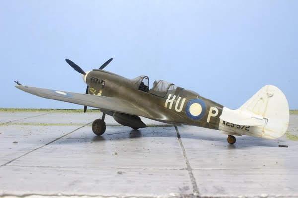 Maquette du Kittyhauk IV de Mauve au 1/48.