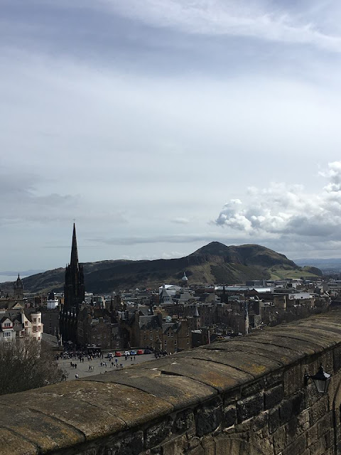 Arthurs Seat view from Edinburgh Castle, Edinburgh Castle, Scotland
