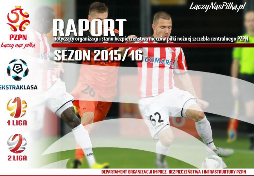 Bezpieczeństwo na stadionach w Polsce - sezon 2015/2016 - okładka raportu PZPN