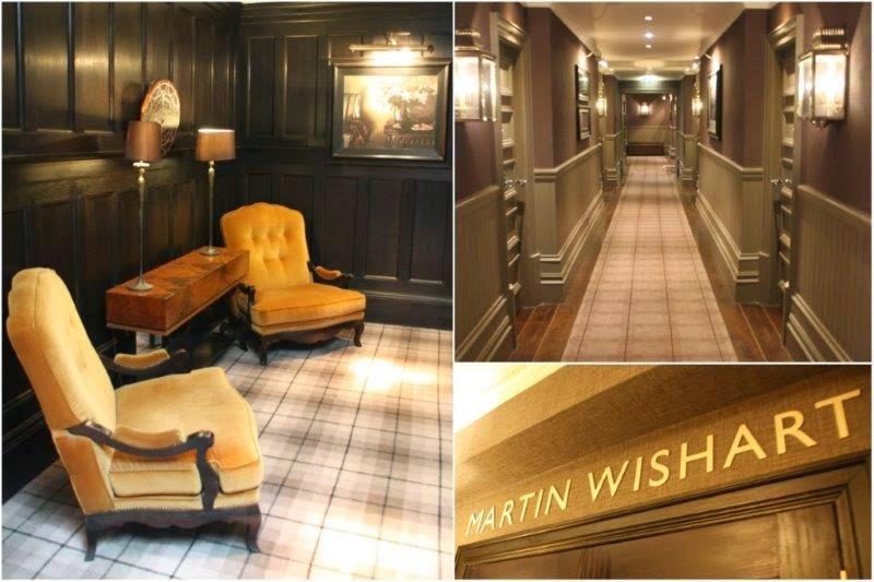 Pasillos en Cameron House en el lago Loch Lomond, Escocia – Restaurante Martin Wishart en Cameron House