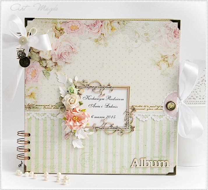 album dla rodziców, podziękowanie, ślub, handmade, ArtMagda
