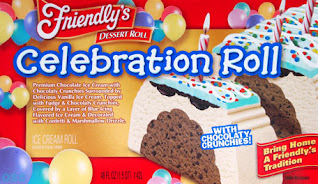 A stock image of Friendly's Celebration Roll Ice Cream Cake