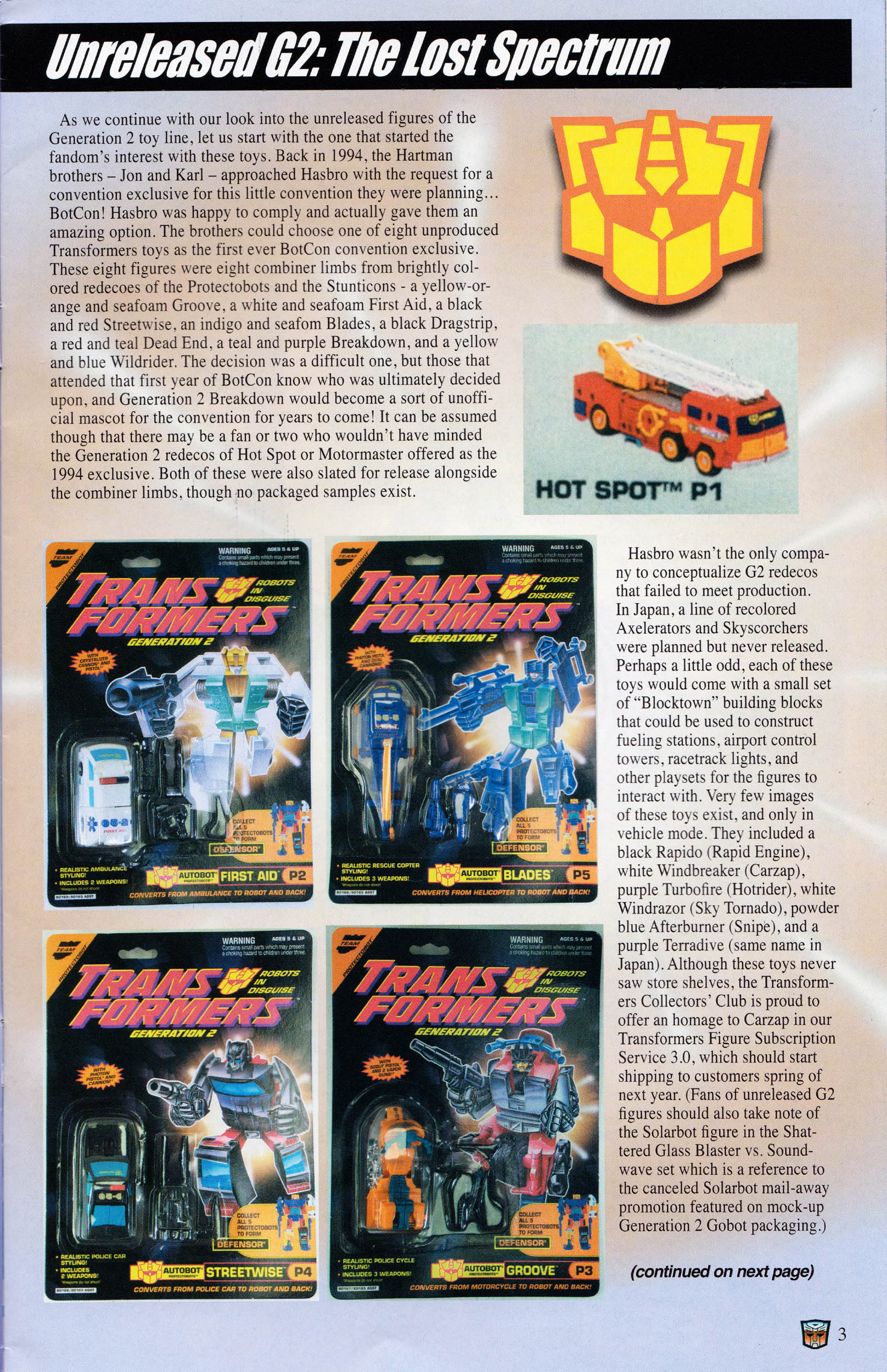 Read online Transformers: Collectors' Club comic -  Issue #60 - 3