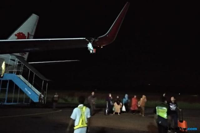 Kronologi Pesawat Lion Air Yang Tabrak Tiang Lampu Bandara di Bengkulu