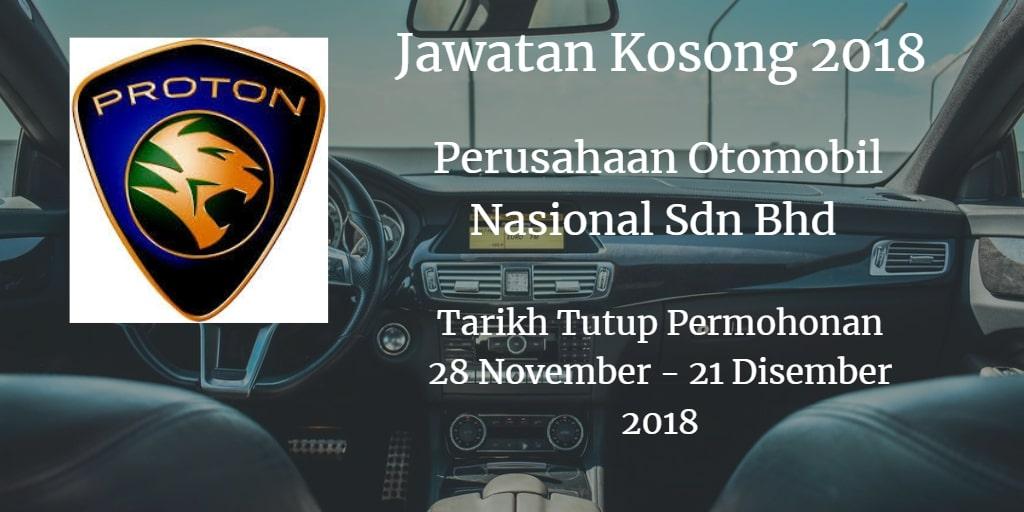 Jawatan Kosong PROTON 28 November - 21 Disember 2018