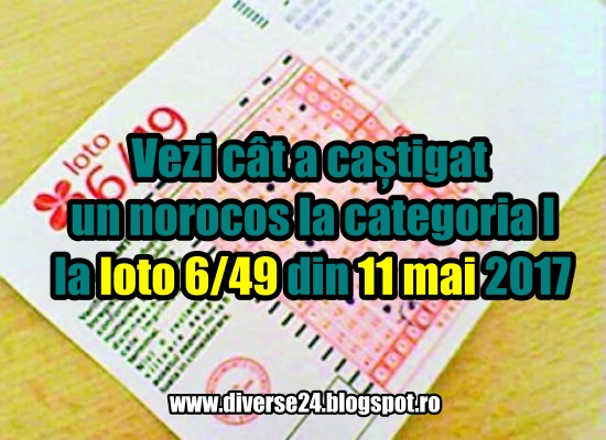Cat este castigul la loto categoria I 11 mai 2017