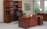 Wood Veneer Executive Office Furniture