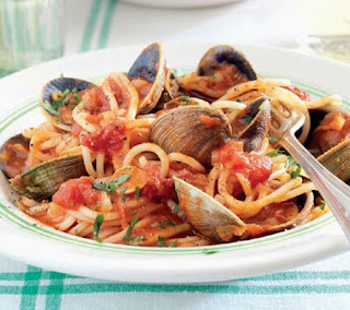 Clams with Chilli Spaghetti Recipe