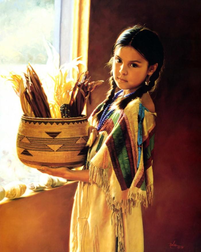 Картины об индейцах. Karen Noles 11
