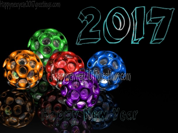 New Year 2017 3D Photo Greetings Download