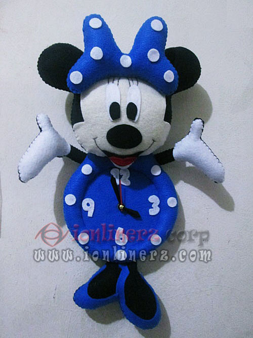 Jam Dinding Flanel Karakter Kartun Boneka Minnie Mouse