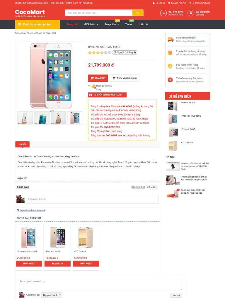 Template blogspot bán hàng CocoMart chuẩn seo - Ảnh 2