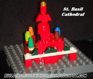 Homeschooling with Legos, St. Basil Cathedral, Lego Creations of Russia, Christmas Around the World