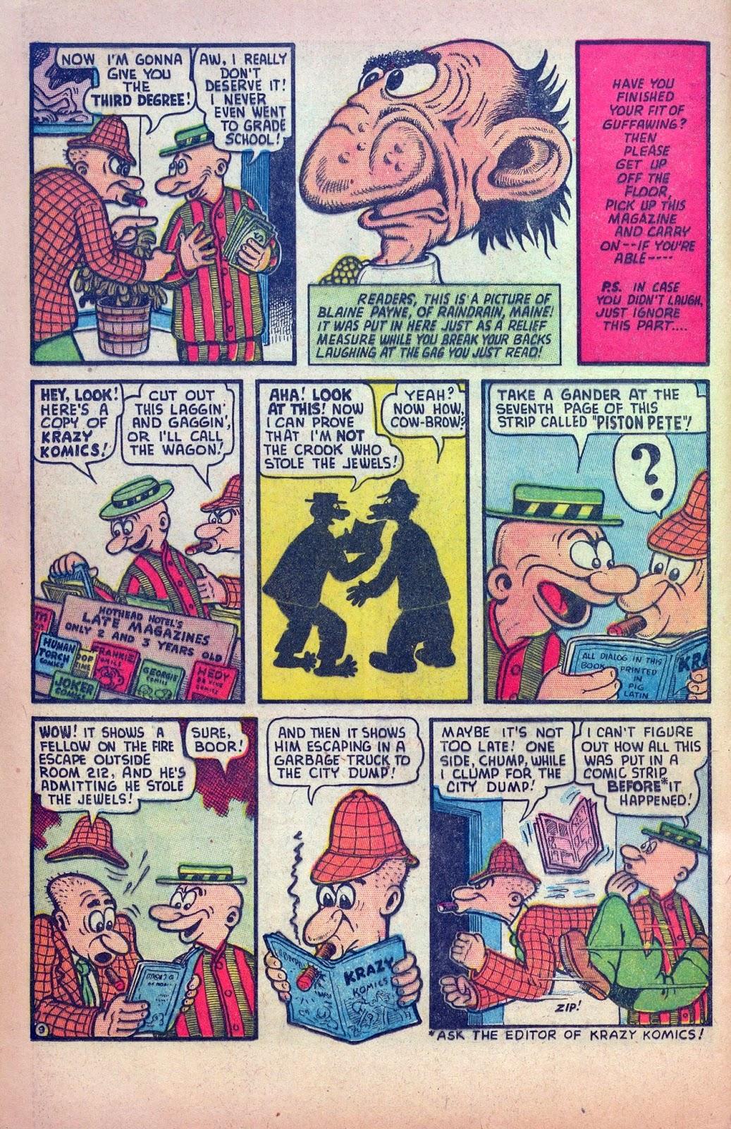 Comic Book Attic Self Reflective Screwballs Basil