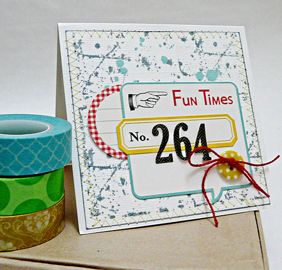 stamped background card by Sian From High in the Sky